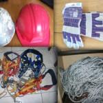 Elements de sécurité : Harnais, gants, Casques, Cordes
